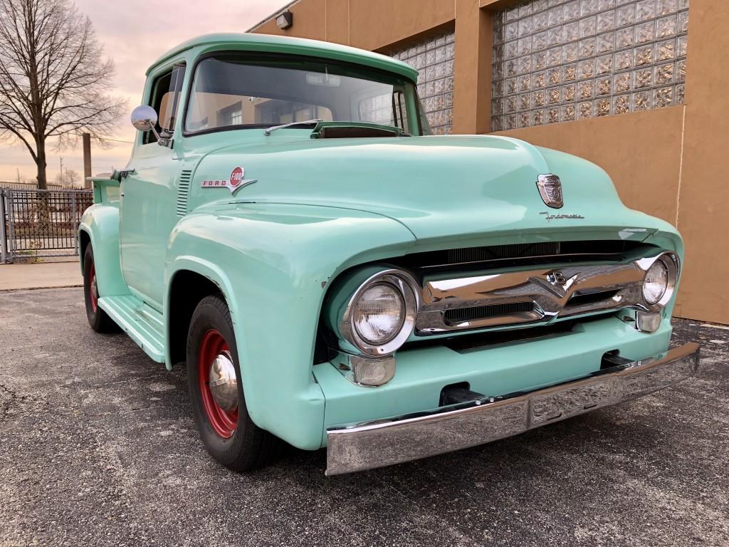 1956 ford f100 hot rod pickup colin 39 s classic auto. Black Bedroom Furniture Sets. Home Design Ideas